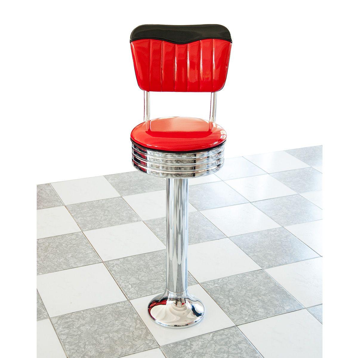 diner bar stool with floor fastening