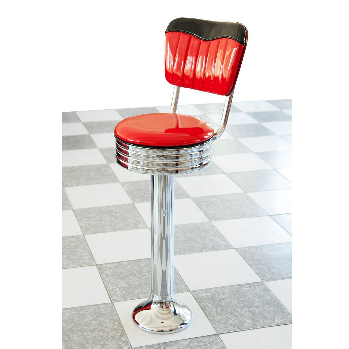 floor fastening diner bar stool