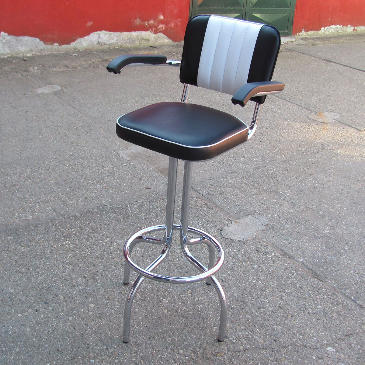retro bar stool with arms
